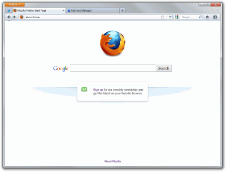 Интерфейс Firefox 7.0