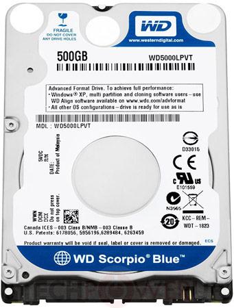 WD начинает поставки тонких жестких дисков WD Scorpio Blue для ультрабуков