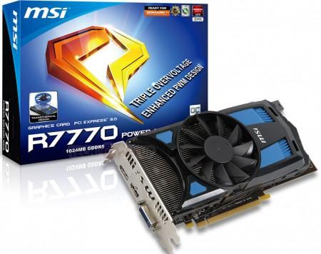 Видеокарта MSI R7770 Power Edition 1GD5/OC