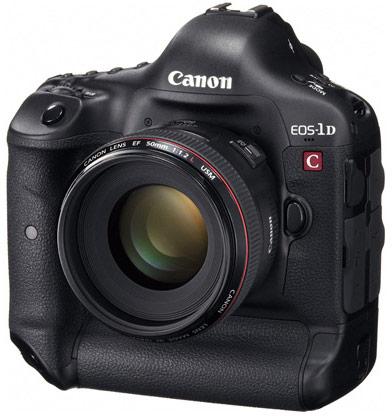 Цифровая зеркальная камера Canon EOS-1D C поддерживает видеосъемку в формате 4K