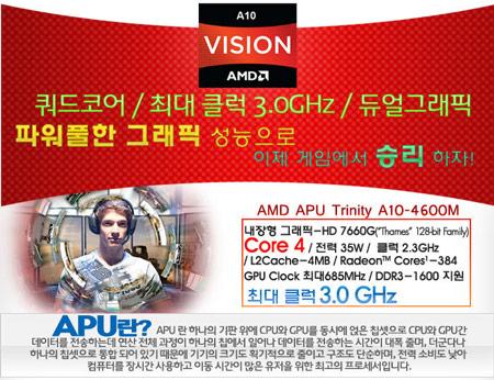 ��������� ������ � ����������� ������������������ APU AMD A10-4600M