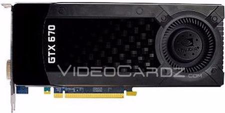 NVIDIA GeForce GTX 670 внешне напоминает GeForce GTX 680