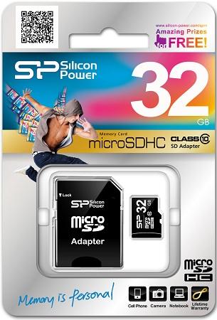 Silicon Power microSDHC Class 10 32 ГБ