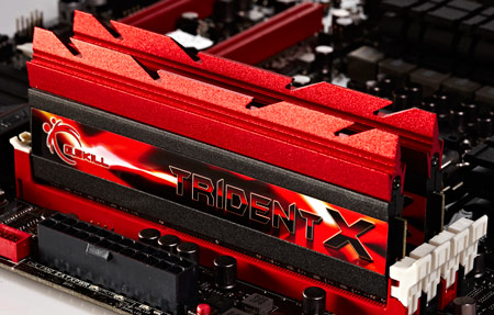 Наборы модулей памяти G.SKILL TridentX DDR3-2800 и DDR3-2666 рассчитаны на процессоры Intel Core третьего поколения