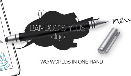 Перо Wacom Bamboo Stylus duo подходит к Apple iPad и планшетам с ОС Android и может заменить ручку
