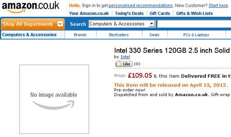 Intel SSD 330 объемом 120 ГБ будет стоить $149