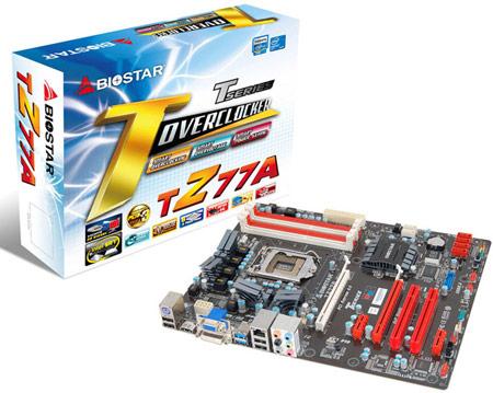 Системная плата BIOSTAR TZ77A построена на чипсете Intel Z77 Express