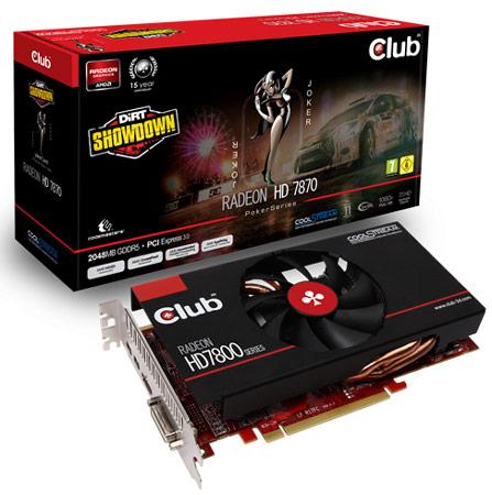Club 3D комплектует 3D-карту Radeon HD 7870 jokerCard игрой DiRT Showdown