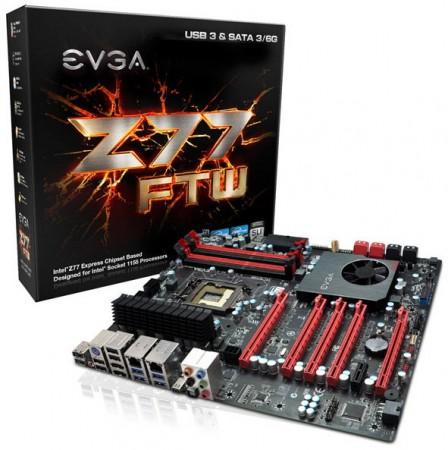 Системная плата EVGA Z77 FTW