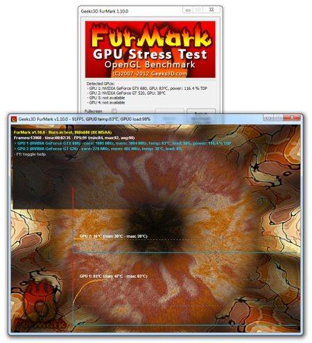 ��������� FurMark OpenGL Benchmark