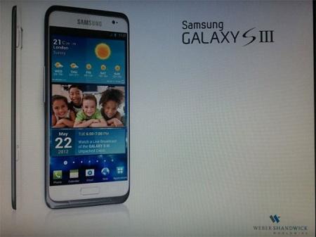 Фрагмент презентации Samsung Galaxy S III