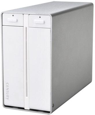 Корпус для внешнего хранилища Century CRTS35EU3R оснащен интерфейсами eSATA и USB 3.0
