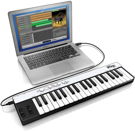 ������������ ���������� MIDI iRig KEYS ��������� � iPhone, iPod touch, iPad, Mac � ��