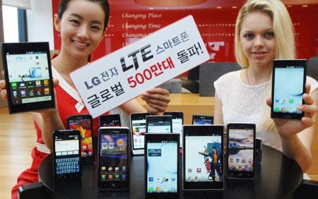 LG продала более пяти миллионов смартфонов со встроенными модемами LTE