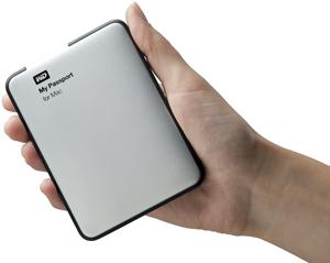 Внешний накопитель WD My Passport for Mac оснащен интерфейсом USB 3.0