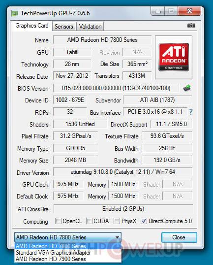 3D-карту Radeon HD 7870 (Tahiti LE) можно использовать в режиме CrossFireX совместно с моделями серии HD 7900
