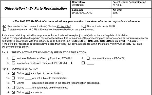 Патентное ведомство США аннулировало один из ключевых патентов Apple в области сенсорного ввода
