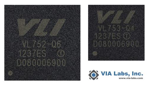 VIA Labs представила контроллеры для флэш-накопителей с интерфейсом USB 3.0 VIA VL752 и VIA VL753