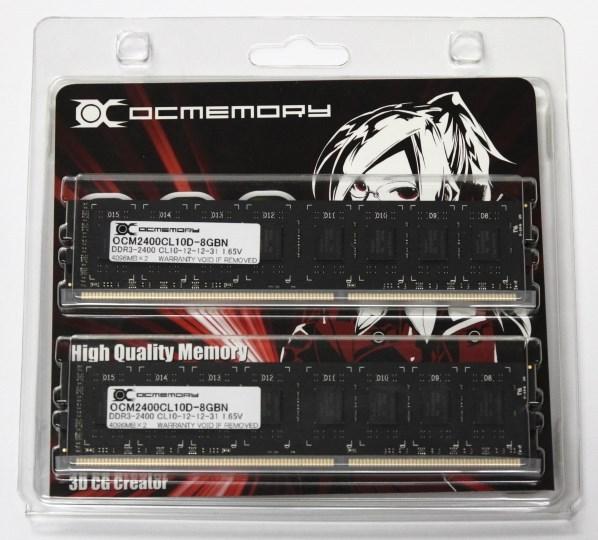 В модулях памяти OCMemory DDR3-2400 используется память производства Hynix
