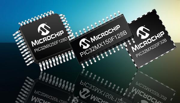 Микроконтроллеры Microchip PIC32MX, и MX2 поддерживают емкостные сенсорные панели и USB OTG