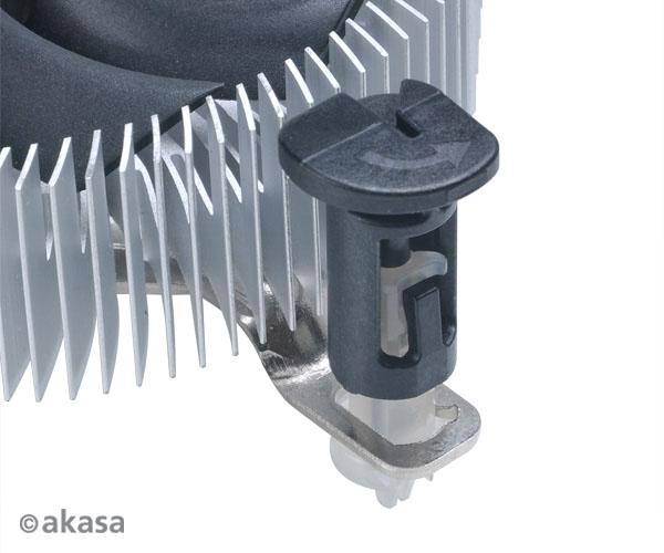 Охладители Akasa AK-CC7122EP01 и AK-CC7122BP01 совместимы с процессорами Intel в исполнении LGA775, LGA1155 и LGA1156