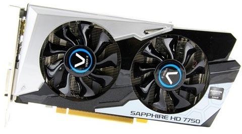 Sapphire �������� 3D-����� Radeon HD 7750 OC ������� Vapor-X