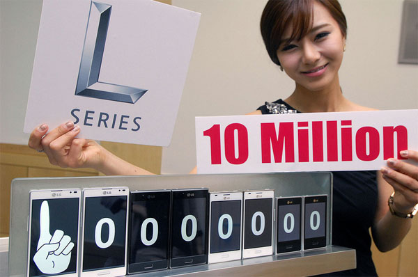 Продажи смартфонов LG Optimus L перевалили за 10 миллионов штук