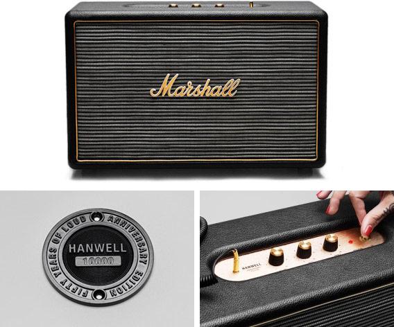 Начались продажи активной акустической системы Marshall Hanwell, выпущенной к юбилею марки
