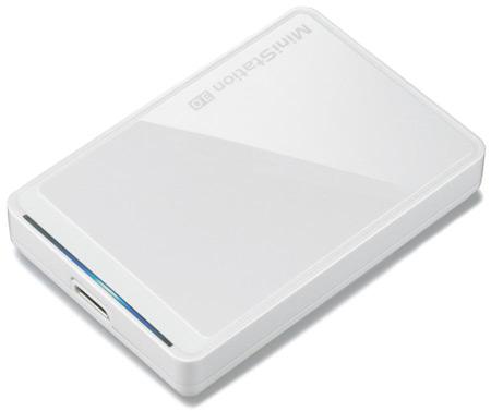 Накопитель Buffalo MiniStation HD-PCT1TU3-BWJ оснащен интерфейсом USB 3.0