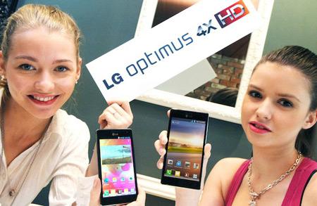 ������� ��������� LG Optimus 4X HD � �������� �������� 4,7 ����� ����� ������ NVIDIA Tegra 3 � Android 4.0
