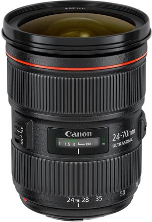 Объектив Canon EF 24-70mm f/2.8L II USM пришел на смену модели EF 24-70mm f/2.8L USM