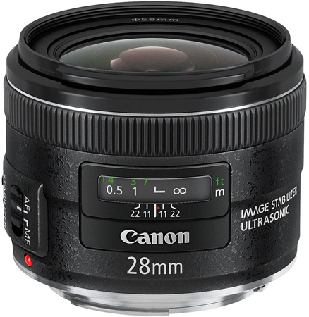 Объективы Canon EF 24mm f/2.8 IS USM и EF 28mm f/2.8 IS USM оснащены стабилизаторами изображения