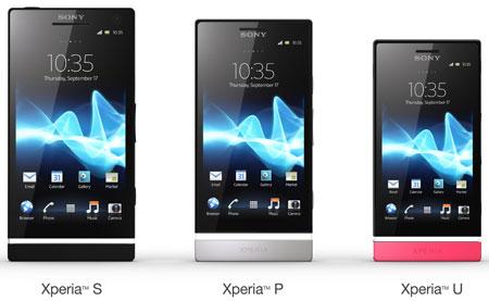 Семейство смартфонов Sony Xperia: S, P и U