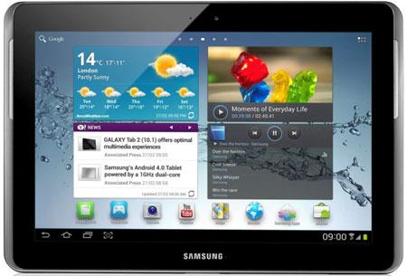 Представлены планшеты Samsung GALAXY Tab 2