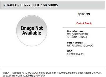 MSI R7770-2PMD1GD5/OC оценивается в $186