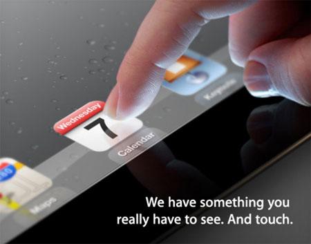 Apple начала рассылать приглашения на мероприятие, где будет представлен планшет iPad 3
