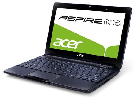 Начались продажи нетбука Acer Aspire One D270 на процессоре Atom N2600