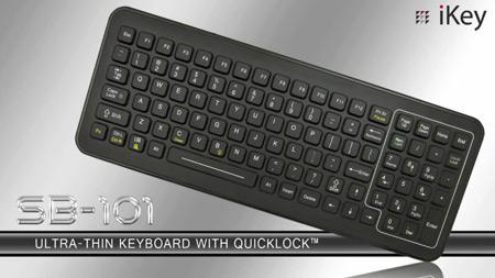 iKey SB-101 — тонкая клавиатура в усиленном исполнении с подсветкой
