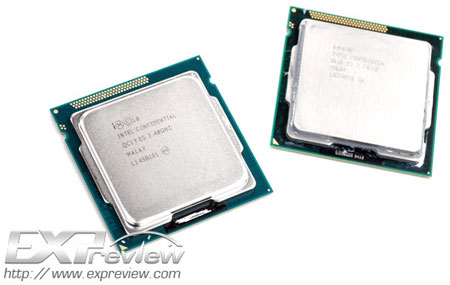 Intel Core i5-3570K и Core i5-2500K друг возле друга