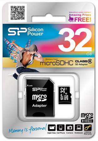 Silicon Power увеличивает объем карточек microSDHC Class 6 до 32 ГБ