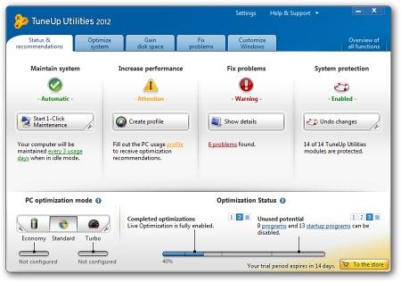 �������� ��������� TuneUp Utilities 2012