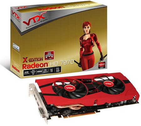VTX3D выпускает 3D-карты HD7970 и 7950 X Edition с заводским разгоном