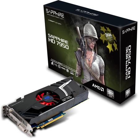 SAPPHIRE представила две модели Radeon HD 7950: с одним и с двумя вентиляторами