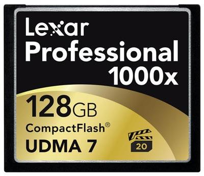 Lexar выпускает первую в отрасли карту памяти CompactFlash с рейтингом скорости 1000x