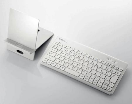 Клавиатура для планшетов Elecom TK-FBM036 оснащена интерфейсом Bluetooth
