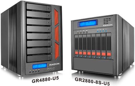 Хранилища RAIDON GR2880 и GR4880 оснащены интерфейсом SAS