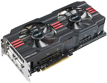 3D-карта ASUS Radeon HD 7970 DirectCu II получила систему охлаждения с двумя вентиляторами