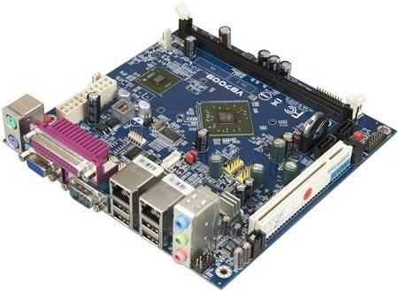 Системная плата VIA VB7009 типоразмера Mini-ITX предназначена для встраиваемых систем