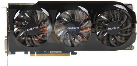 3D-карта Gigabyte Radeon HD 7950 WindForce 3 оснащена системой охлаждения с тремя вентиляторами