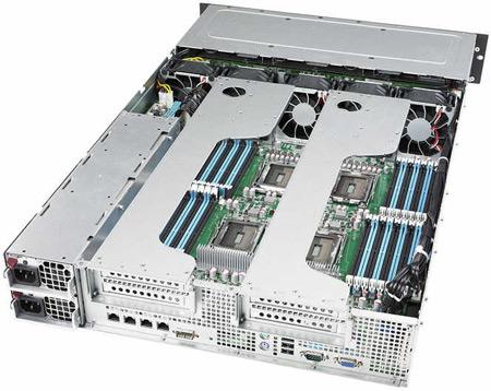 ASUS RS924A-E6 - первая в мире гибридная серверная платформа 2U с поддержкой четырех CPU AMD и двух GPU